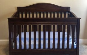 4-1 convertible crib, dresser, mattress, changing pad for Sale in Monroe, NC