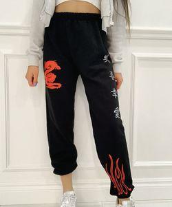 Unisex  Dragon Sweatpants  With Reflective Symbols Thumbnail