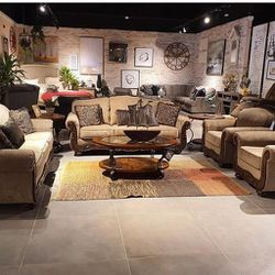 Briaroaks Mocha Living Room Set Sofa, loveseat & couch & sectional) ask price Thumbnail