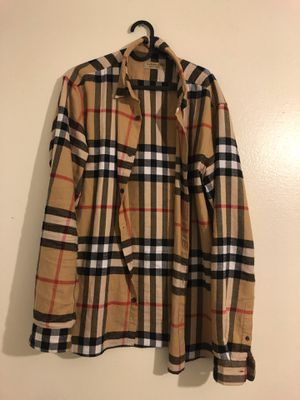 18ecb265c5d3 Burberry Check Cotton Flannel for Sale in Walnut