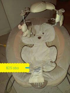 Baby boy or girl swing and bouncy seat for sale  Tulsa, OK