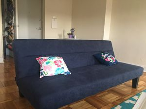 Futon sofa bed (blue) for Sale in Washington, DC