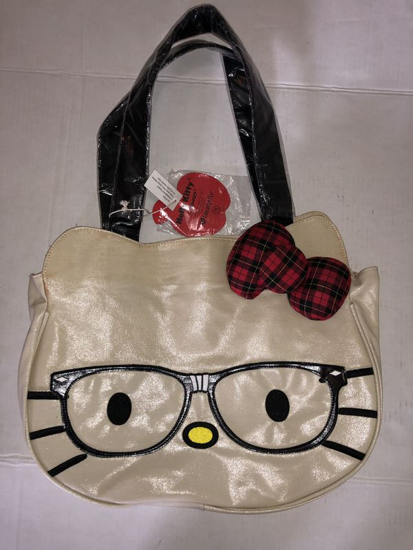 f60b1571ee Hello Kitty Nerd Face Loungefly Sanrio 2011 Tote Bag New for Sale in ...