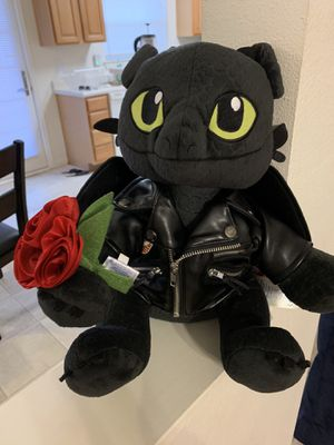 Photo Build a bear workshop DreamWorks Toothless with Harley official accessories