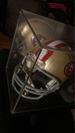 Autographed San Francisco 49er helmet Thumbnail