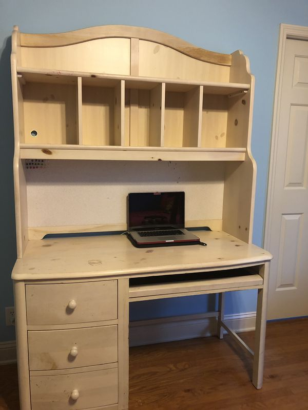 Stanley Furniture Company Computer Desk With Hutch Solid Wood