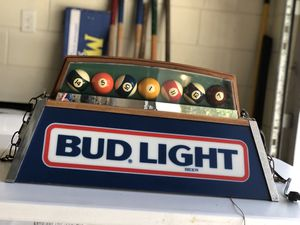 80's Bud Light Pool Table light for Sale in Clermont, FL