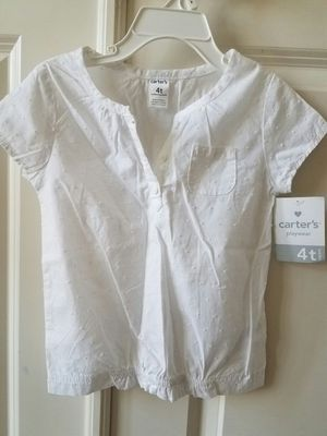 New with tags girls eyelet cotton top size 4T - $7 price firm for Sale in Rockville, MD