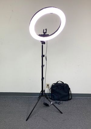 "Photo $90 each NEW LED 19"" Ring Light Photo Stand Lighting 50W 5500K Dimmable Studio Video Camera"