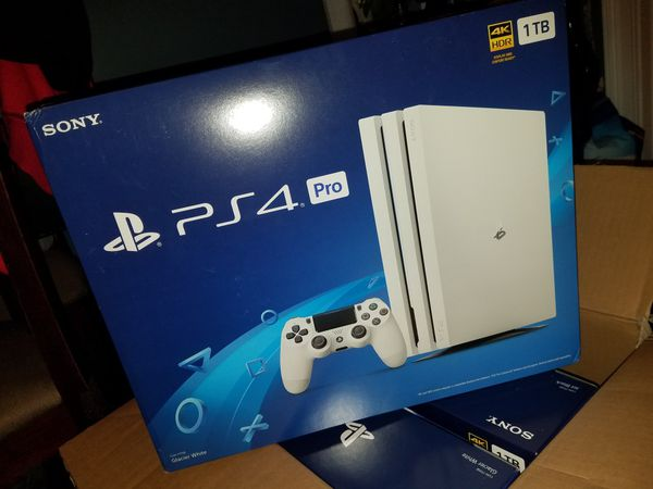 ps4 pro glacier white new sealed for sale in raleigh. Black Bedroom Furniture Sets. Home Design Ideas