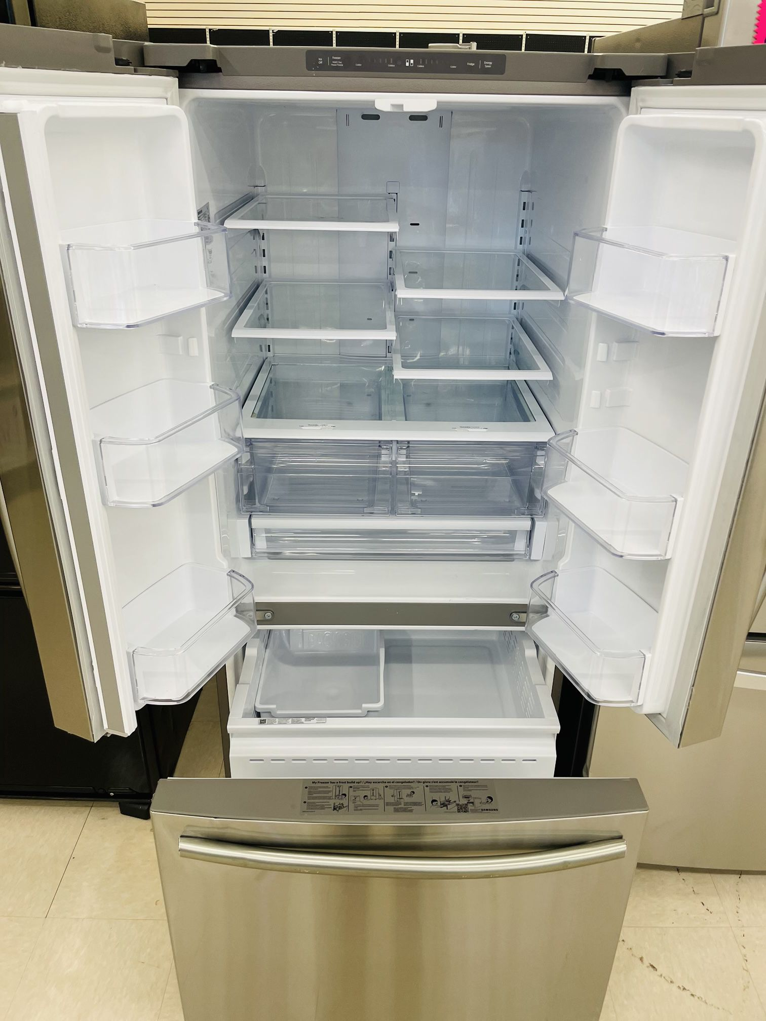 """30"""" Samsung Refrigerator French Door With Ice Maker In Excellent Condition"""