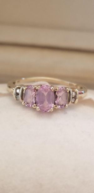 Photo 10kt gold Diamond levendar ring 6.5