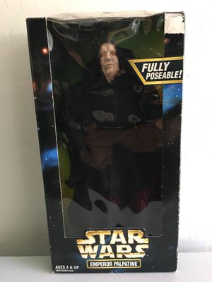 ($4) 12 inch Star Wars Emperor Palpatine Figure/ Doll/Toy Action Collection ©️1998 Hasbro Kenner. for Sale in Phoenix, AZ
