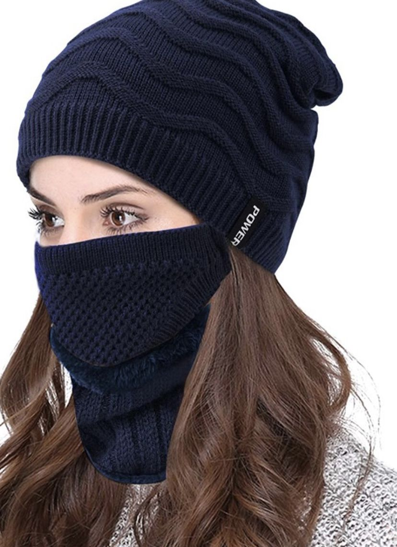 3 PCS Winter Beanie Hats Scarf Set