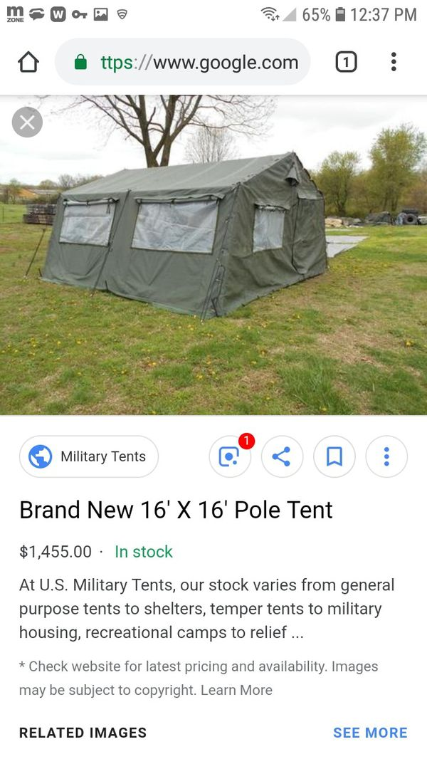 Military tarp tent 16×16 for Sale in Roy, WA - OfferUp