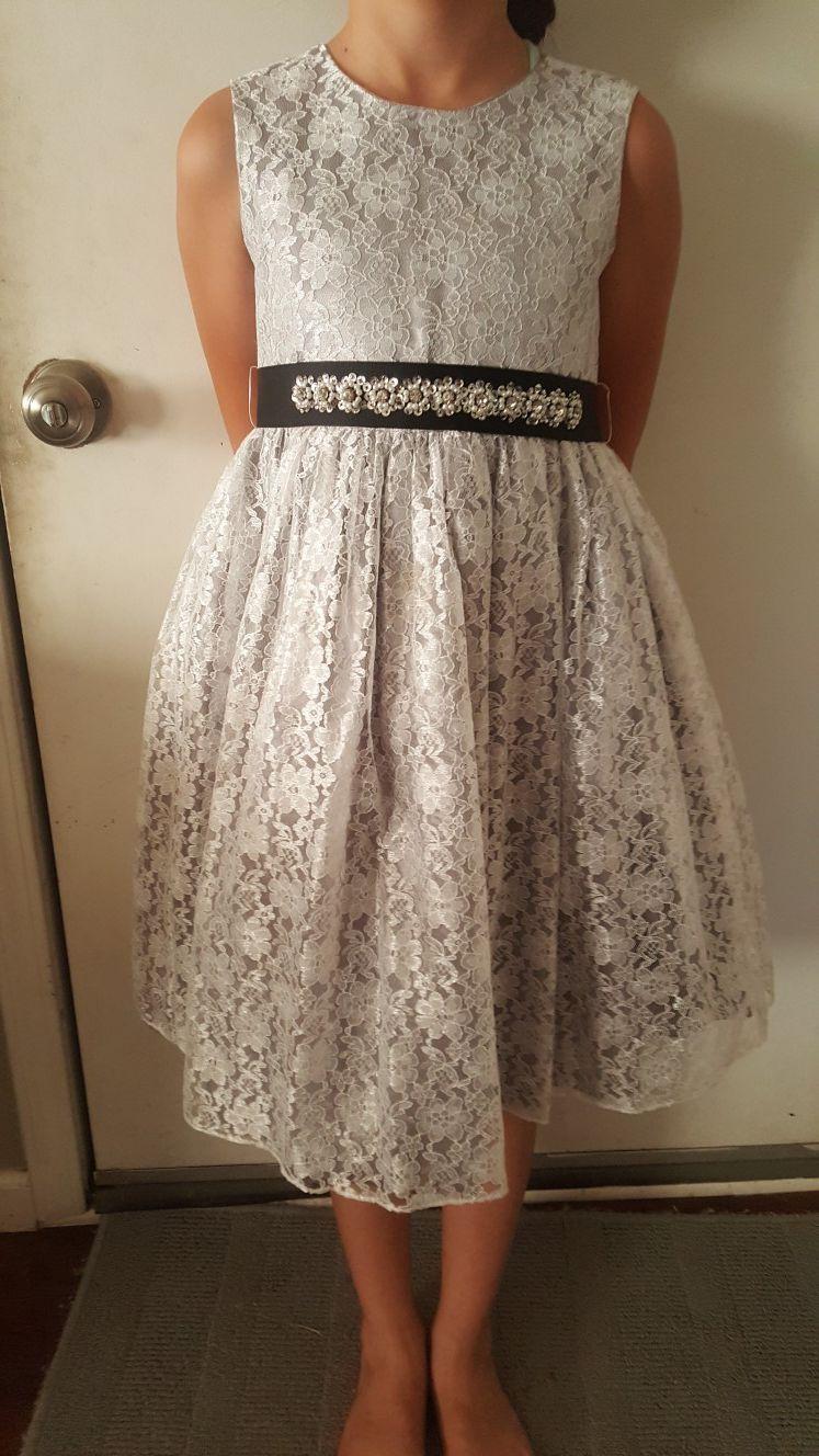 Gray girls dress