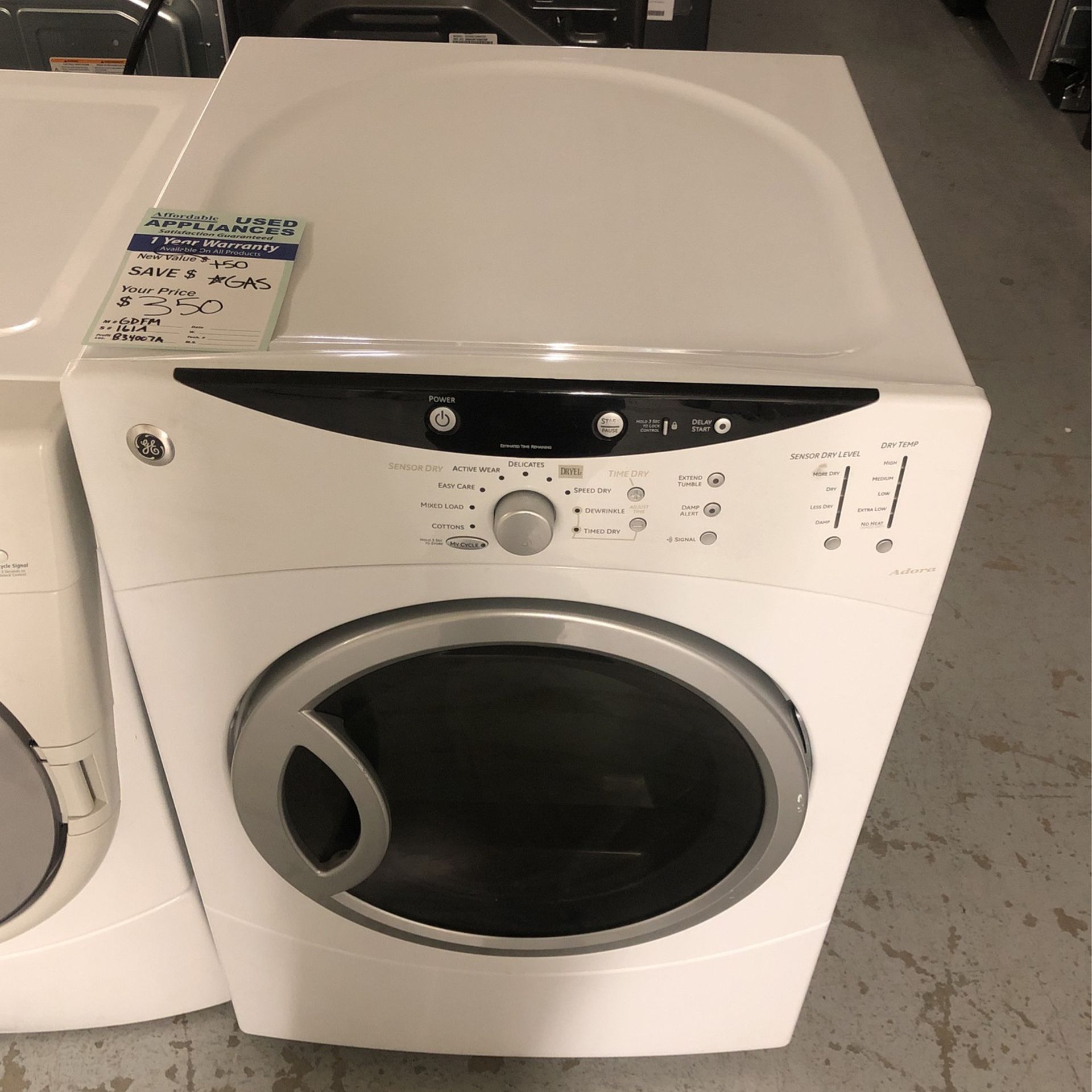 Great White Ge Gas Dryer #67