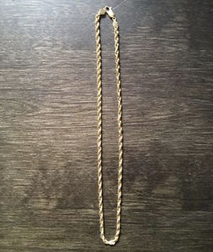 "Photo 14k 18"" 4mm gold chain"