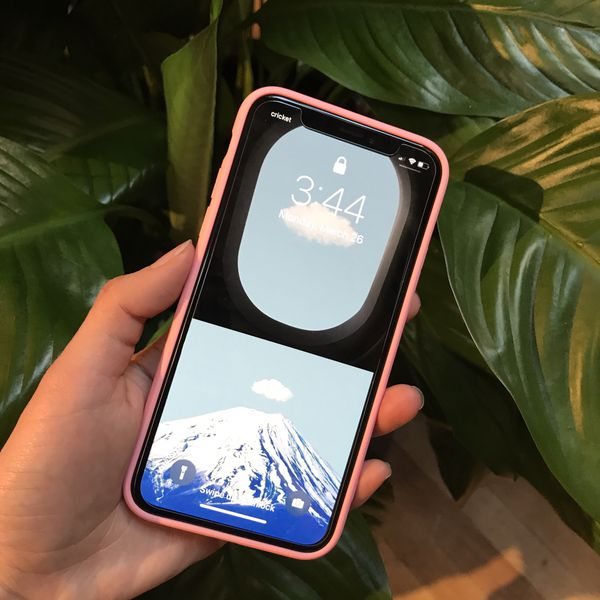 detailed look 45c38 41a74 Reflective Mirror Case Supreme Case Cover for iPhone X/XS and Tempered  Glass Screen Protector, Anti-Scratch, Bubble Free, Lifetime Replacement for  ...