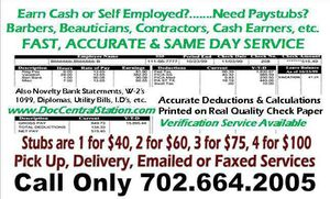 Accurate Paystubs and Professional Verification for Sale in Chicago, IL