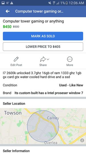 Computer tower for Sale in Parkville, MD