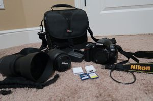Nikon D3000 10.2MP Digital SLR Camera with 18-55mm f/3.5-5.6G AF-S DX VR Nikkor Zoom Lens for sale  Joplin, MO