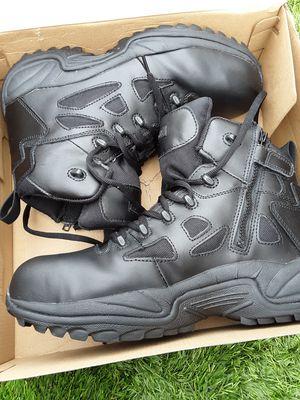 Photo Steel toe boots mens work size 12$65 Reebok