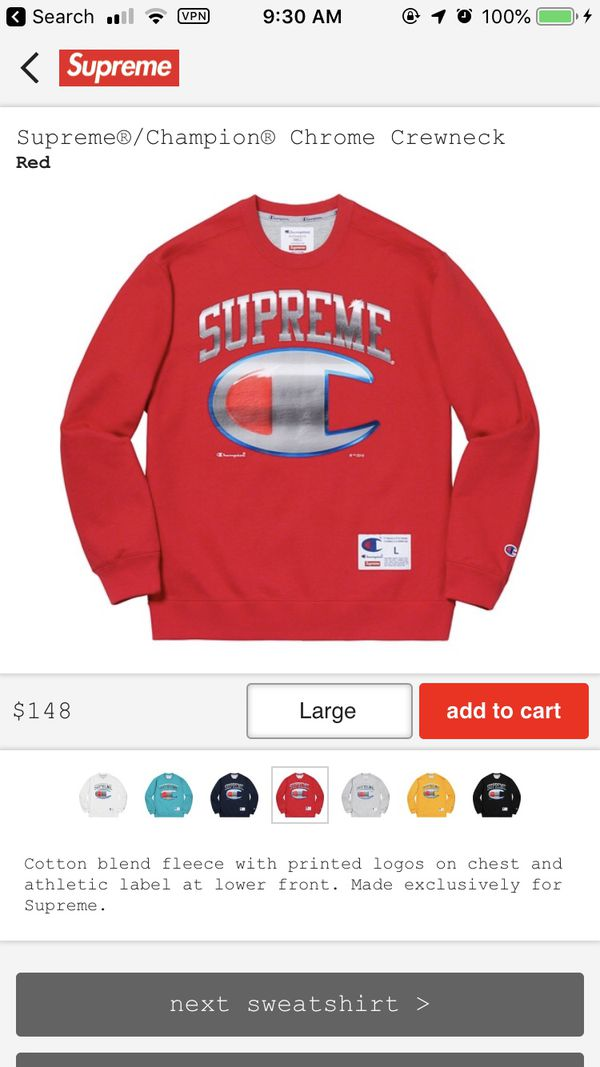36a8e2d9a8a2 New and Used Crewneck supreme for Sale in Clovis, CA - OfferUp