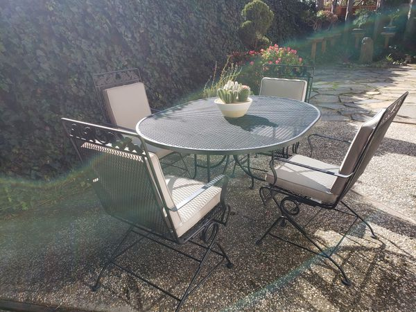 Enjoyable Wrought Iron Patio Set For Sale In San Ramon Ca Offerup Beutiful Home Inspiration Ommitmahrainfo
