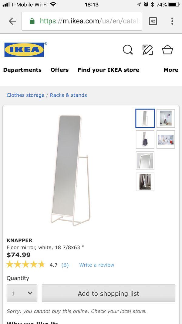 Ikea Knapper Floor Mirror (Furniture) in Winston-Salem, NC - OfferUp