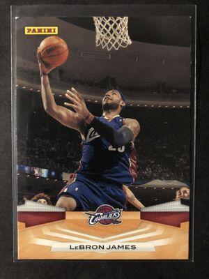 Photo Lebron James 2009 PANINI Basketball Card. Lebron James Cleveland Cavaliers Basketball Trading Card