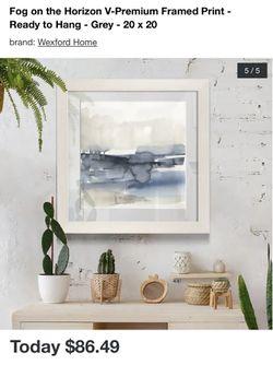 Fog on the Horizon V-Premium Framed Print - Ready to Hang - Grey - 20 x 20 Thumbnail