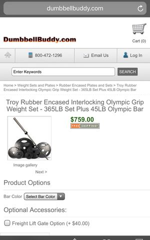 Troy weight plate set for Sale in Denver, CO
