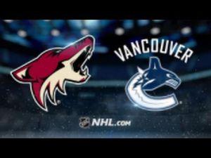 Phoenix coyotes vs Vancouver Canucks for Sale in Litchfield Park, AZ