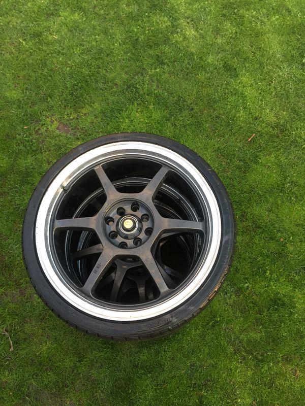 18\' Enkei Wheels / Rims 4 Lug Universal With Tires (Auto Parts) in ...