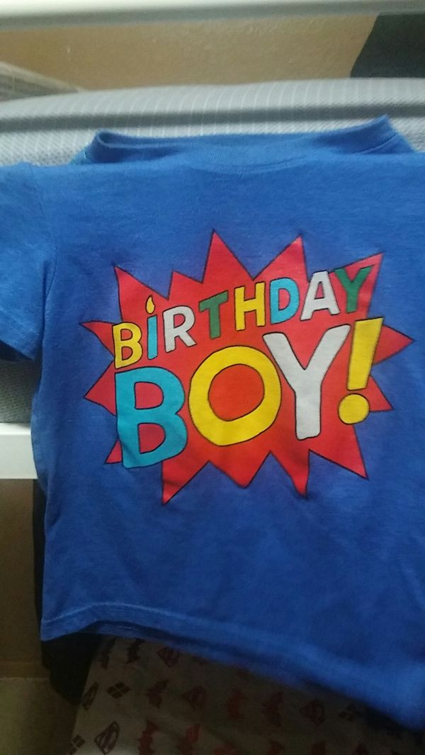 Boys 5T Birthday Shirt