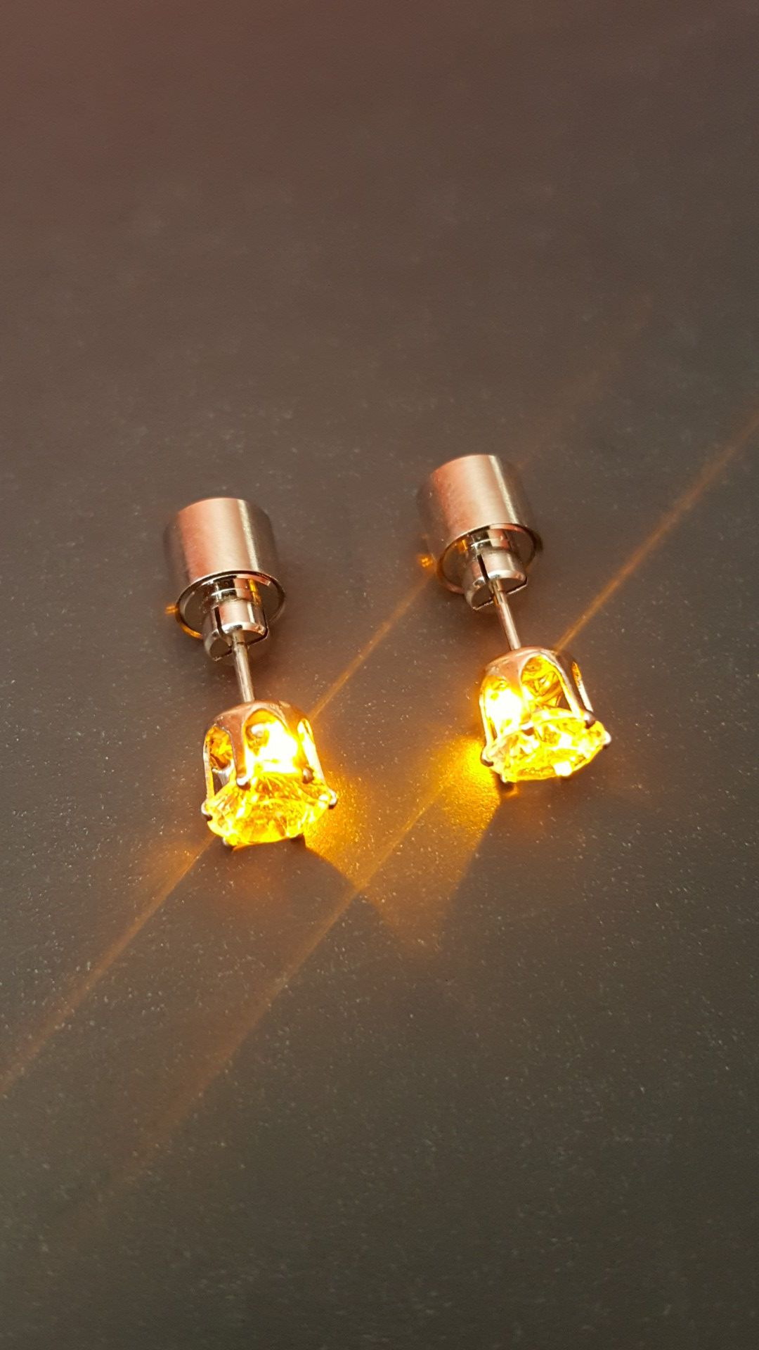Orange LED Earring Studs