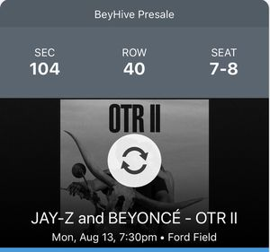 Jay-z and Beyoncé concert - Ford Field for Sale in Windsor, ON