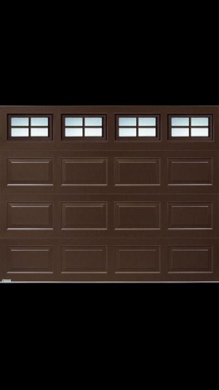 16x7 Brown Longshort Panel Garage Door Household In Los Angeles