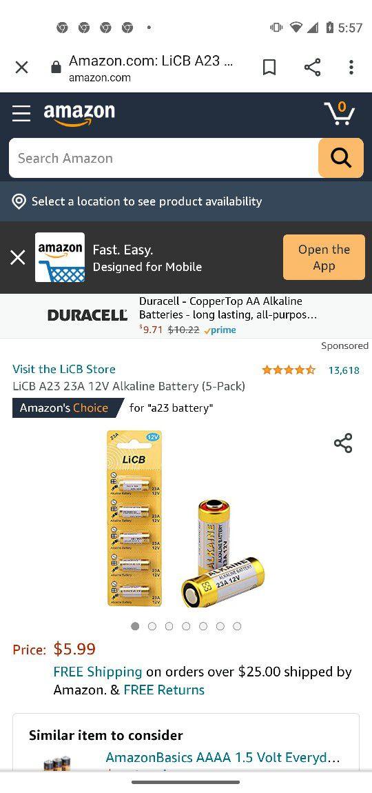 12-v T Alkaline Battery Five Pack