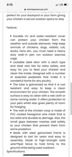 6x9x12 Chicken Coop Thumbnail