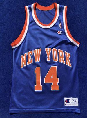 timeless design 3dc09 0a703 Vintage New York Knicks Anthony Mason Champion Jersey Mens ...