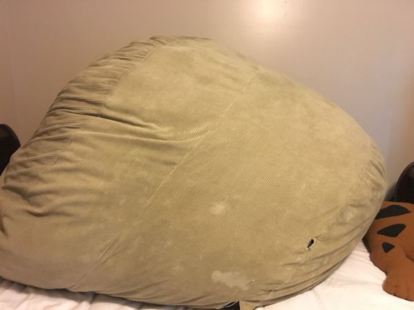 Superb Large Cordaroy Convertible Bean Bag Chair For Sale In Smyrna Dailytribune Chair Design For Home Dailytribuneorg