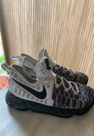 43ff655ff8b Nike Zoom KD 9 GS Oreo White Black Grey Durant Basketball Shoes 855908-100  for
