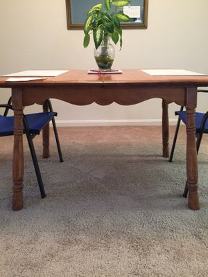 Dining Room Table - Expandable, Maple Wood for Sale in Arlington, VA