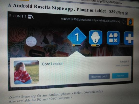Rosetta stone app for Android for Sale in Bronx, NY - OfferUp