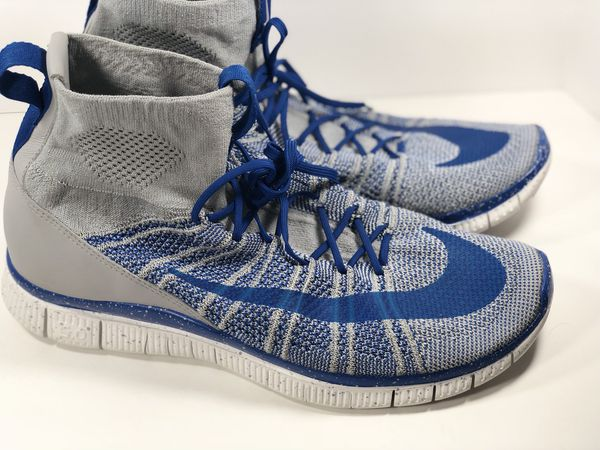 19c21c30824 Nike Free Flyknit Mercurial Wolf Grey Game Royal Blue 805554-003 Sz 10.5  NIKE (Clothing   Shoes) in Phoenix