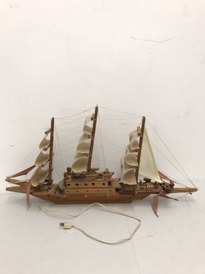 "Handcrafted wooden sailboat with light (32"" length , 3-1/4"" width, 16"" height) for Sale in Chicago, IL"