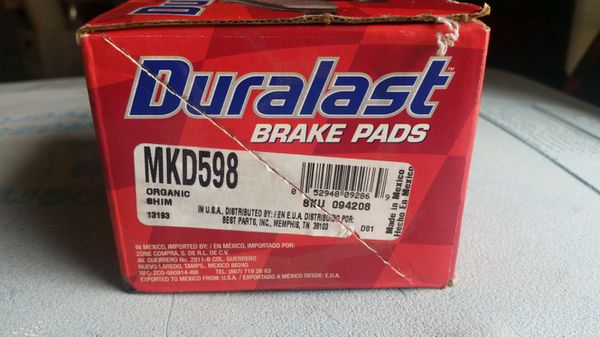 Duralast Brake Pads >> Duralast Brake Pads New For Sale In Phoenix Az Offerup