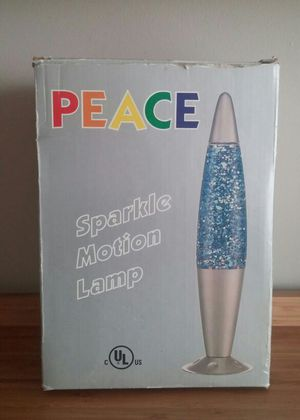 Peace Electric Glitter Motion Lamp for Sale in Gaithersburg, MD